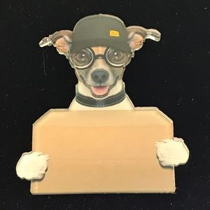 Jack Russell Terrier And Package Acrylic Pin